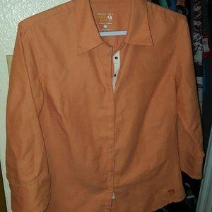 Mountain hardwear 3/4 sleeve snap front shirt